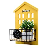 HENGSHENG Key Holder Wood Wall Mounted.Mail, Letter Holder, Key Rack Organizer for Entryway, Kitchen, Office (Deep Mustard Yellow)