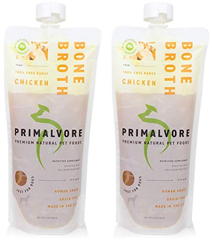 Primalvore Organic Bone Broth Food Topper for Dogs & Cats | Collagen Peptides for Improved Joint...