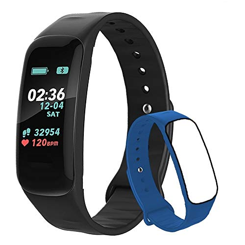 Fitness Tracker,Activity Tracker Watch with Heart Rate Blood Pressure Blood Oxygen Monitor,Waterproof Smart Fitness Band with Step Counter,Calorie Counter,Sleep Monitor for Kids Women and Men (blue5)