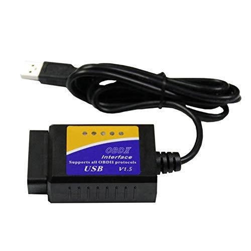 YEZIN Medidor Digital, V04HU-1 Vehículo automóvil escáner de código de diagnóstico de faltas de los lectores USB Herramienta de análisis OBDII Interface Software Versión V1.5