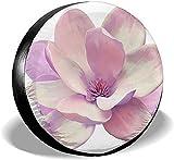 PageHar Cubiertas de poliéster para Ruedas, Cubierta para neumáticos de Repuesto, Protectores de neumáticos Resistentes a la Intemperie, Beauty Purple Spring of Tender Pink Cubierta para neumáticos