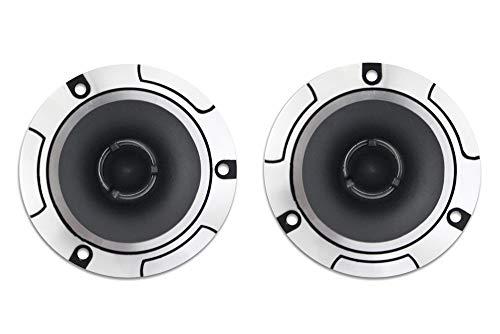 Vetrineinrete Casse per auto amplificate alluminio 150 watt 4 ohm coppia 2 altoparlanti Tweeter autoradio speaker stereo macchina 92db 10x10 cm P71