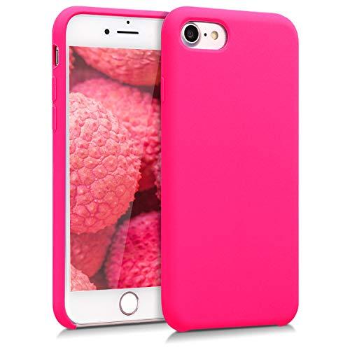 kwmobile Cover Compatibile con Apple iPhone 7/8 / SE (2020) - Cover Custodia in Silicone TPU - Back Case Protezione Cellulare Rosa Shocking
