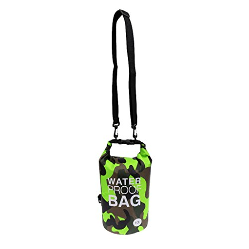 Milageto Bolsa impermeable Premium de 10 litros para bolsas estanca para kayak, camping, viajes en barco – # 3
