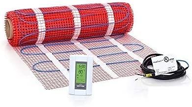 20 Sqft Mat Kit, 120V Electric Radiant Floor Heat Heating System w/Aube Programmable Floor Sensing Thermostat