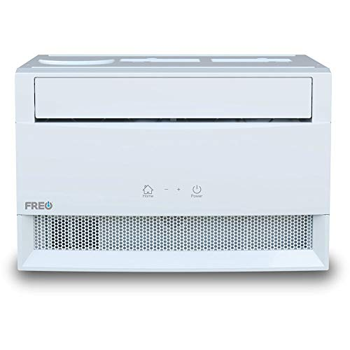 Freo 6,000 BTU Window Air Conditioner | Sleek, Modern Design | Energy Star | LED Display | Follow Me Remote | Automatic Louvers | Dehumidifier | AC for Rooms up to 250 Sq. Ft | FHCW061ABE