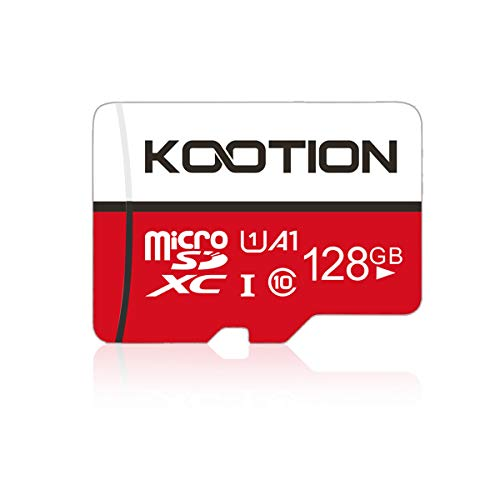 KOOTION 128GB Micro SD Card Class 10 Micro SDXC Card 128GB UHS-1 Memory Card Ultra High Speed TF Card, C10, U1, 128 GB