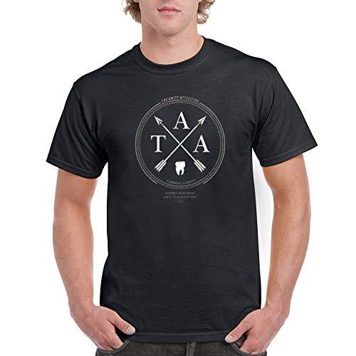 AAAFOUR Men's/Herren The Amity Affliction Logo White Cotton Neck T-Shirt