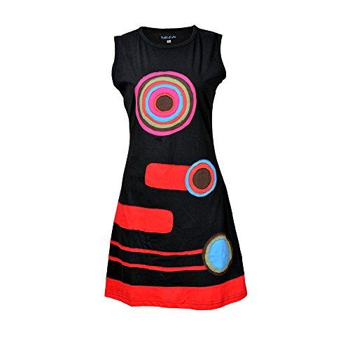 Vestido sin Mangas de Las señoras con el círculo de la Muestra Multicolor Diseño