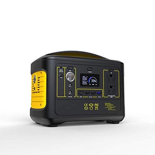 All-Purpose Generador Portátil Generador Inverter Central eléctrica cargada Solar 500W / 555WH...