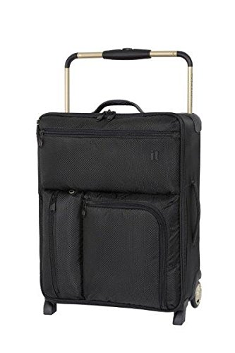 IT Luggage World's Lightest 55cm Max Cabin Suitcase Black