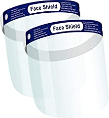 【DUST, GERM, & ALLERGENS PROTECTION】Our clear face masks are designed for ultimate protection against foreign droplets, saliva, splash, dust and oil. The PPE face masks covers your face fully from forehead to well below chin. Made with durable plasti...