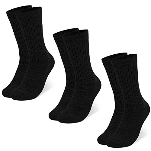 Occulto 3 paar of 6 paar Merino sokken voor dames en heren, business, vrije tijd, pak sokken van ademende merinowol
