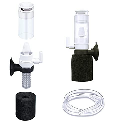 GZjiyu 2 Set Luftheber Filter, Leiser Mini Aquarium Filter 3 in 1 für Kleines Fisch Aquarium Kugelförmige Fischbehälter Speziell Geformte Fischbehälter
