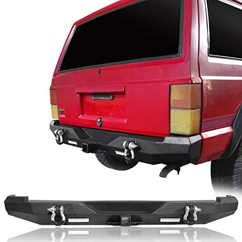 u-Box Cherokee Discovery Rear Bumper w 2x 18W LED Floodlights for Jeep Cherokee XJ 1984-2001