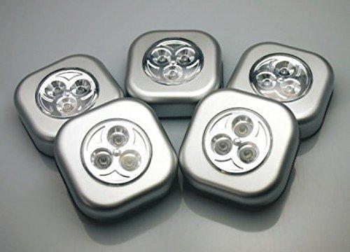 Heim & Büro - Lámparas LED adhesivas (5 unidades)