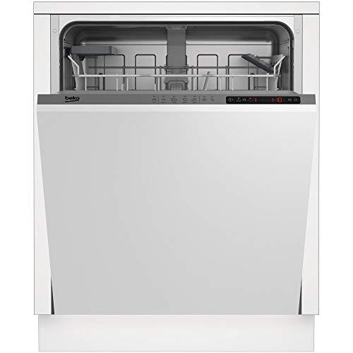 Beko DIN24215 lavavajilla Totalmente integrado 13 cubiertos A+ - Lavavajillas (Totalmente integrado, Tamaño completo (60 cm), Acero inoxidable, LCD, Estático, Canasta)
