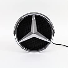 IHEX Auto Xenon White Illuminated LED Car Logo Grid Badge for Mercedes Benz A/B/C/CLS/E/GLK/GL/R Series Front Grille LED Emblem Light