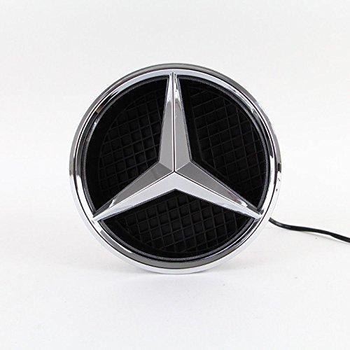 IHEX Auto Xenon White Illuminated LED Car Logo Grid Badge for Mercedes Benz A/B/C/CLS/E/GLK/GL/R Series Front Grille LED Emblem Light