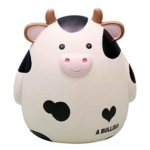 Dettelin Hucha para el Regalo del Festival de Primavera de Año Nuevo, Linda Vaca inastillable Caja de Ahorro de Dinero Comiendo Moneda Juguete para Masticar