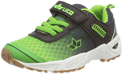 Lico Unisex Barney VS Multisport Indoor Schuhe, Blau (Gruen/Schwarz Gruen/Schwarz), 37 EU