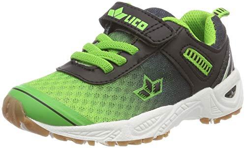 Lico BARNEY VS Unisex Kinder Multisport Indoor Schuhe, Blau/ Grün/ Schwarz, 36 EU