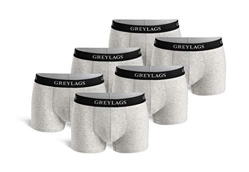 Greylags Premium Boxershorts/Retroshorts für Herren   Unterwäsche im praktischen 6er Pack   Farbe: grau   Größe XL   Röhre Kurz