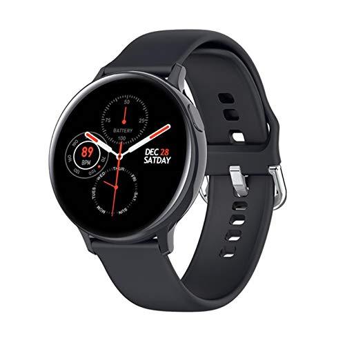 QY-Youth Smart Watch IP68 APROXIMACIÓN APROBACIÓN Fitness Rastreador de Ritmo cardíaco Monitoreo Inteligente Reloj Hombres y Mujeres Reloj de Pulsera,Negro
