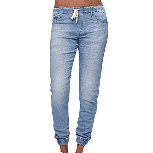 N\P Las mujeres más tamaño cintura jeans flojo Legging Slim Pant