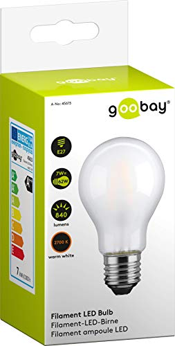 goobay Bombilla LED Gota 7 W filamento