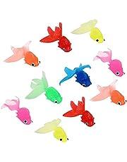 Decoración de Adornos de Peces Flotantes Plástico Artificial Flotante Peces Decoración de Peces Flotantes para Acuarios Decoración Colorida Adornos Paisajísticos Flotantes 10 Piezas (color Aleatorio)
