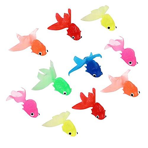 Schwimmende Goldfisch Simulation Goldfisch Schwimmende Fische Ornament Plastik Fische Künstliche Kunststoff Goldfisch Aquarium Gefälschter Fisch für Aquarium Deko Künstliches Fischaquarium 10 Stück