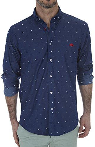 Altonadock PV18275020603 Camisa Casual, Azul (Estampado), Large (Tamaño del Fabricante:L) para Hombre
