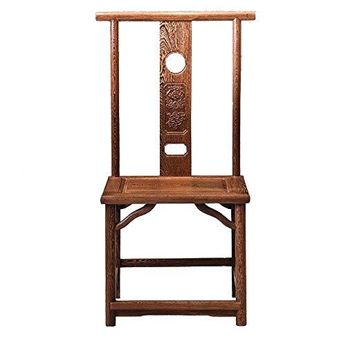 CKQ-KQ Silla de comedor de madera maciza Sala de té Tumbona silla de la computadora Silla Silla de oficina adecuados Sillas de cocina Home Hotel (Color: Marrón, Tamaño: 50x42x103cm) Para la silla de I