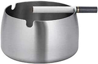 GAOTING Ashtray/stainless steel ashtray creative jewelry (Color : Silver, Size : M)