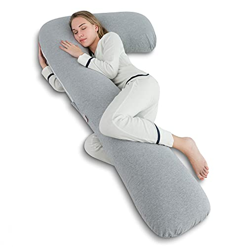 AngQi Body Pregnancy Pillow with Jersey Cover