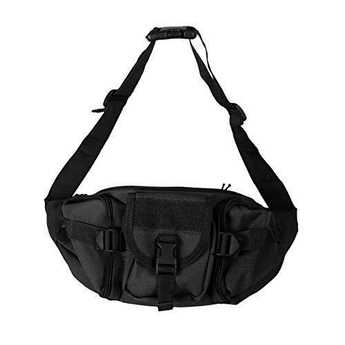 OSAGE RIVER Fishing Tackle Bag, Waist Fanny Pack Portable Storage, Crossbody Sling Bag, Black