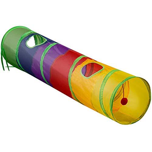 Ba30DEllylelly Mascotas plegables, perros, gatos, túneles, juguete de entrenamiento para conejos, tubo de túnel para jugar, juguetes divertidos portátiles para mascotas