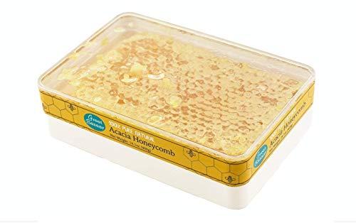 Great Bazaar All-Natural Raw Honeycomb Acacia Honey Comb, 400g (14.10oz) (1)