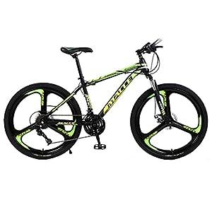 41IJIXVf5XL. SS300 Mountain Bike Bici da Cross in Acciaio al Carbonio a velocità variabile Fantasy Bicolore (Freno a Doppia V da 24/26 Pollici 21/24/27 velocità)