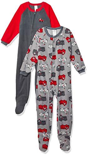 Gerber Baby Boy Microfleece Blanket Sleeper Pajama Mulipack, 2-Pack (0-24 Months)
