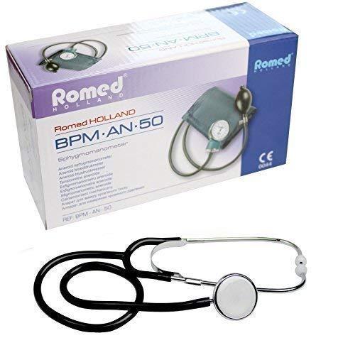 Blutdruckmessgerät 2-Schlauch + Stethoskop Farbe Schwarz