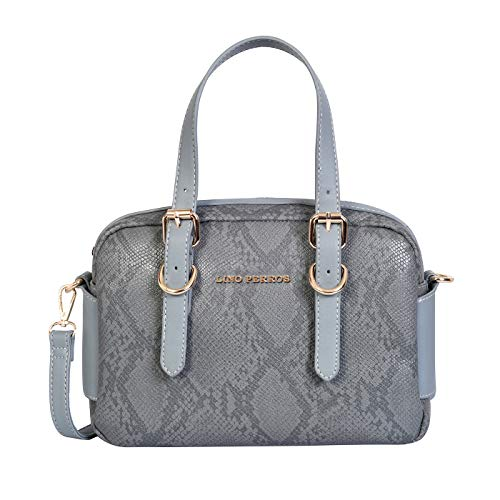 Lino Perros Womens Blue Synthetic Leather Satchel (Blue)