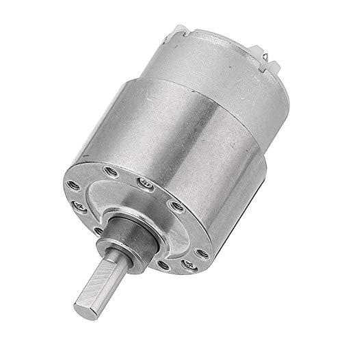 WSF-DIANJI, 1pc Machifit DC 12V engranaje motor 33/100 / 37MM 190RPM 500 Orientado Reducción Motor Motor Por barco del coche eléctrico de la bicicleta del ventilador del aparato electrodoméstico