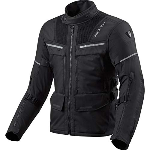 REV'IT! Motorradjacke mit Protektoren Motorrad Jacke Offtrack Textiljacke schwarz 4XL, Herren, Enduro/Adventure, Ganzjährig, Polyester