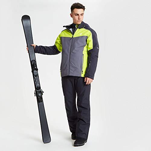 Dare 2b - Chaqueta de esquí y Snowboard para Hombre con Capucha Plegable, diseño de Manga articulada y Falda de Nieve, Impermeable, Hombre, Color Ebony Grey/Citron Lime, tamaño XX-Large