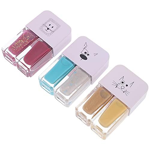 Minkissy 3 Piezas de Gel Esmalte de Uñas Francés Esmalte de Uñas Capa Base Superior Remoja El Color Del...