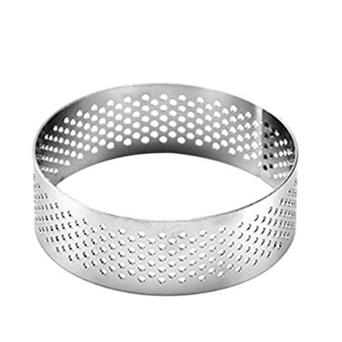 Anneaux à tarte ronds en acier inoxydable Coupe-bagage à gâteau respirant Cuisson de moules à anneau en métal 6/7/8/10 cm