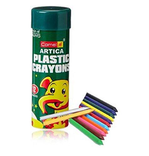 Camel Artica Plastic Crayons - 12 Shades & Free Gold Shade