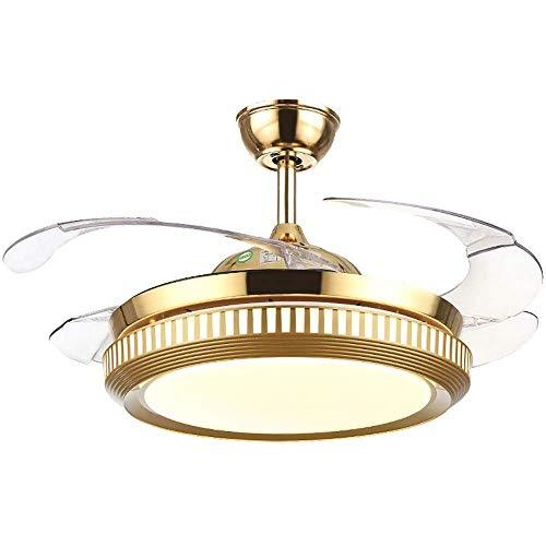 MAMINGBO Ventiladores de techo invisibles con luz, moderna luz LED for ventilador de techo con control remoto, sala de estar Habitación for niños Comedor Ventiladores de lámparas